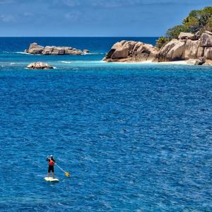 Seychelles - Paddleboarding en Coco Island